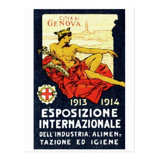 Poster 1913 de la expo de Génova Postal