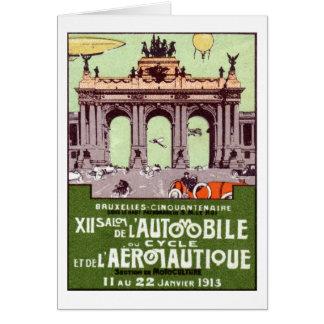 Poster 1913 de la expo del transporte tarjeta