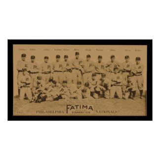 Poster 1913 de la tarjeta del tabaco de Philadelph