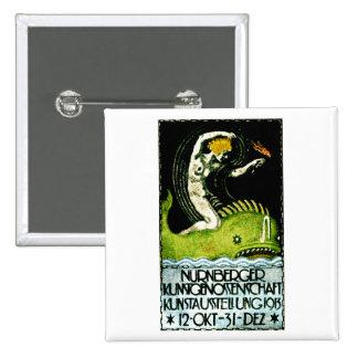 Poster 1913 del objeto expuesto del arte de Nurnbe Pin Cuadrada 5 Cm