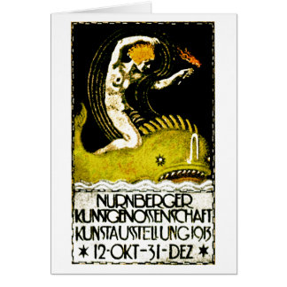 Poster 1913 del objeto expuesto del arte de Nurnbe Tarjeta Pequeña
