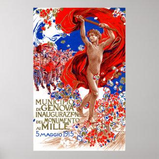 Poster 1915 de la victoria de Garibaldi