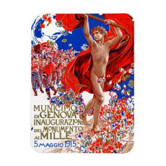 Poster 1915 de la victoria de Garibaldi Iman Flexible