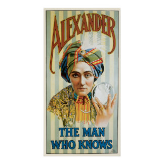 Poster 1915 del mago de Alexander del vintage