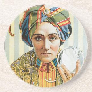 Poster 1915 del mago de Alexander del vintage Posavasos Para Bebidas