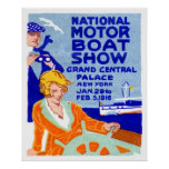 Poster 1916 de la demostración del barco
