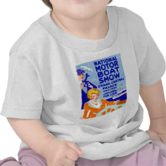 Poster 1916 de la demostración del barco camisetas