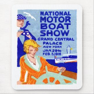 Poster 1916 de la demostración del barco alfombrilla de ratones