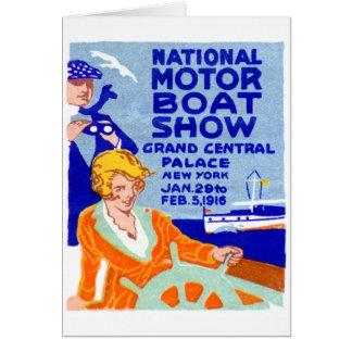 Poster 1916 de la demostración del barco tarjetón