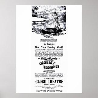 Poster 1916 del anuncio de la película del vintage