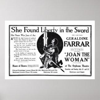 Poster 1917 del anuncio de la película del vintage póster