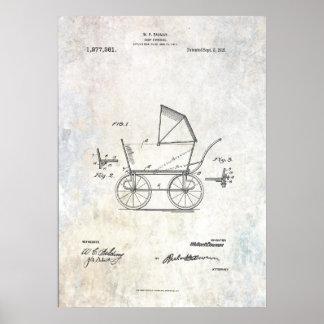 Poster 1918 de la impresión de la patente del