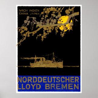 Poster 1920 del revestimiento marino
