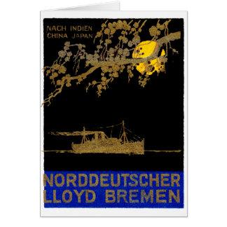 Poster 1920 del revestimiento marino felicitación