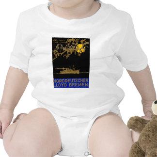 Poster 1920 del revestimiento marino trajes de bebé