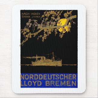 Poster 1920 del revestimiento marino tapete de raton