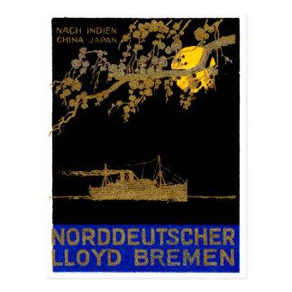 Poster 1920 del revestimiento marino tarjetas postales