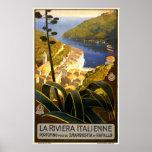Poster 1920 del viaje de Riviera Italienne Portofi