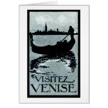 Poster 1920 del viaje de Venecia Felicitación