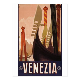 Poster 1920 Venecia Italia del viaje de Venezia Tarjetas Postales