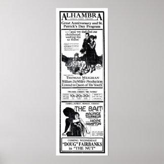 Poster 1921 de los anuncios de la película del vin