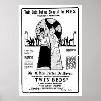 Poster 1921 de película muda del vintage de las ca
