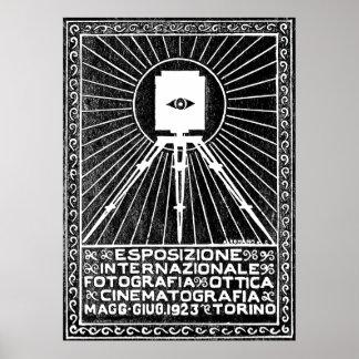Poster 1923 de la expo de la foto de Turín