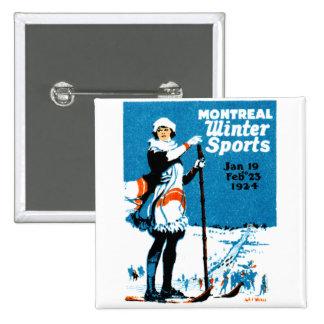 Poster 1924 de los deportes de invierno de Montrea Pins