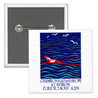 Poster 1924 del Rowing de Zurich Pins