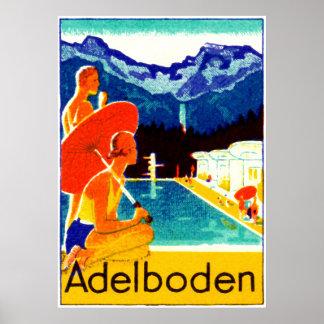 Poster 1925 de Adelboden Suiza