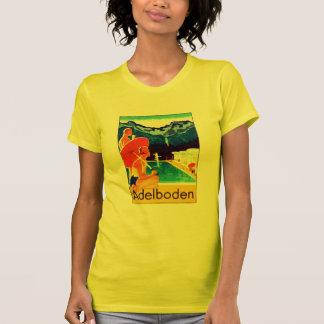 Poster 1925 de Adelboden Suiza Camisetas
