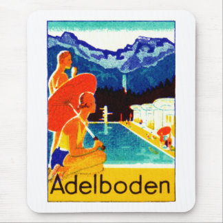 Poster 1925 de Adelboden Suiza Tapete De Raton