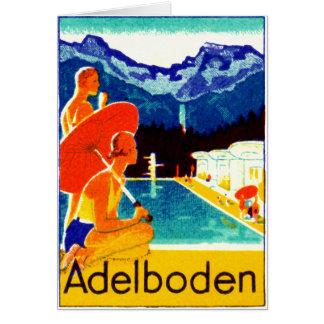 Poster 1925 de Adelboden Suiza Tarjeta De Felicitación