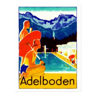 Poster 1925 de Adelboden Suiza Tarjeta Postal