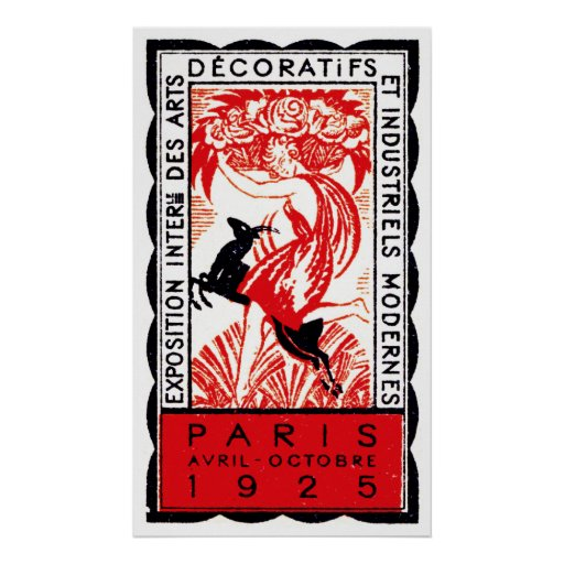 Poster 1925 del art déco de París