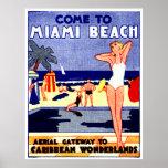 Poster 1925 del viaje de Miami