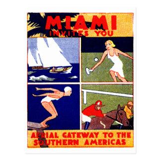 Poster 1925 del viaje de Miami Postal