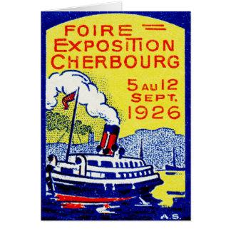 Poster 1926 de Cherbourg Francia Tarjeta De Felicitación