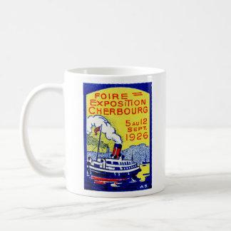 Poster 1926 de Cherbourg Francia Taza De Café