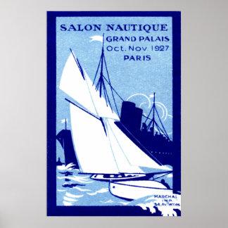 Poster 1927 de la demostración del barco de París