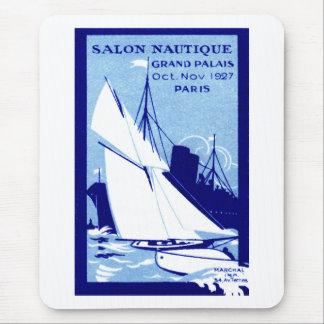 Poster 1927 de la demostración del barco de París Tapetes De Ratón