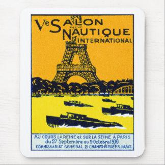 Poster 1930 de la demostración del barco de París Alfombrilla De Ratón