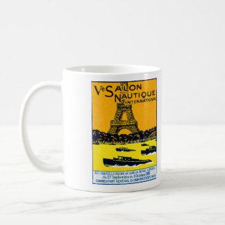 Poster 1930 de la demostración del barco de París Taza De Café