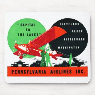 Poster 1930 de las líneas aéreas de Penn Alfombrillas De Raton