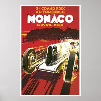 Poster 1930 de Mónaco Grand Prix