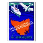 Poster 1930 del viaje de Tasmania Tarjetas