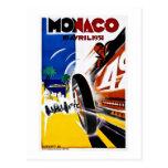 Poster 1931 de la raza del vintage de Mónaco Grand