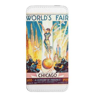 Poster 1933 de Chicago de la feria de mundos del Bolsillo Para iPhone