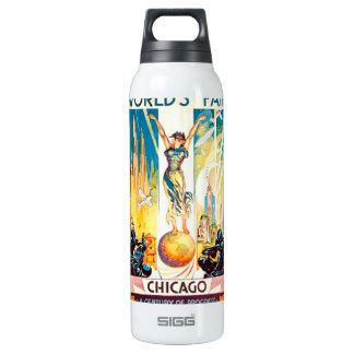 Poster 1933 de Chicago de la feria de mundos del