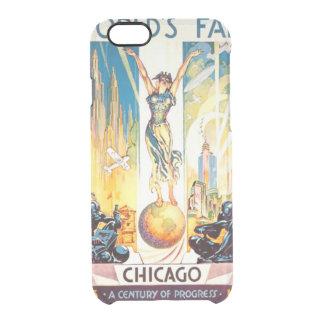Poster 1933 de Chicago de la feria de mundos del Funda Clearly™ Deflector Para iPhone 6 De Uncommon
